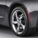 C7 Corvette Stingray Splash Guards 2Pc : Rear