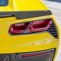 C7 Corvette Stingray Tailight Bezels - Carbon Fiber
