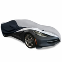 C7 Corvette Stingray Ultraguard Plus Car Cover - Indoor/Outdoor Protection : Grey/Black