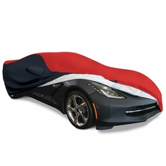 C7 Corvette Stingray Ultraguard Plus Car Cover - Indoor/Outdoor Protection : Red/Black