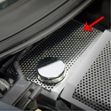 C7 Corvette Stingray Water Tank Cover - Perforated Stainless Steel : Polished