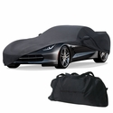 C7 Corvette Stretch Satin Indoor Car Cover/Black w/ Stingray Logo