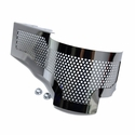C7 Corvette Z06 - Alternator Cover Perforated Polished : Stainless Steel