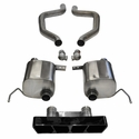 C7 Corvette Z06 Exhaust - CORSA EXTREME Axle-Back Performance Exhaust System : Black Poly Tip