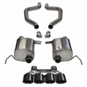 "C7 Corvette Z06 Exhaust - CORSA EXTREME Axle-Back Performance Exhaust System : Quad 4.50"" Round Black Tips"