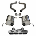 C7 Corvette Z06 Exhaust - CORSA SPORT Axle-Back Performance Exhaust System : Polished Poly Tip