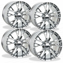 C7 Corvette Z06 Genuine GM Wheels (Set) : Chrome 19x10/20x12