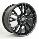C7 Corvette Z06 Style Reproduction Wheels : Gloss Black