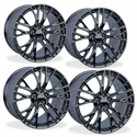 C7 Corvette Z06 Style Reproduction Wheels (Set) : Black Chrome