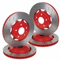 C7 Corvette Z51 Powder Coated Rotors / Red