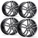 C7 Corvette Z51 Style Reproduction Wheels (Set) : Black Chrome