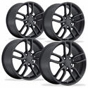 C7 Corvette Z51 Style Reproduction Wheels (Set) : Satin Black