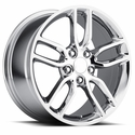 C7 Corvette Z51 Style Wheels (Set) : Chrome 17x8.5/18x9.5