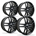 C7 Corvette Z51 Style Reproduction Wheels (Set) : Gloss Black
