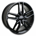 C7 Corvette Z51 Style Wheels (Set) : Gloss Black 18x8.5/19x10 C6 & C7