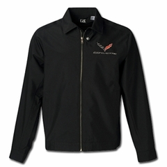 C7 Logo Corvette Cutter & Buck Mason Jacket : Black