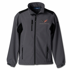 C7 Logo Corvette Reebok Softshell Jacket : Graphite