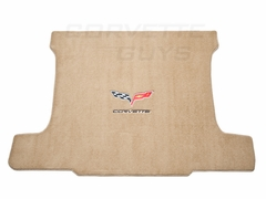 Cashmere w/ Black Lettering Corvette C6 Ultimat Cargo Coupe Mat (05+)