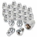 Chrome Acorn Lug Nuts with Wheel Locks - Chrome (Set)