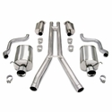 "Corsa Touring Axle-Back Corvette Exhaust - Dual 4.0"" Pro Tips (05-08 C6) - Corsa 14161"