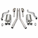 "Corsa Touring Axle-Back Corvette Exhaust - Quad 3.5"" Pro Tips (09-13 C6) - Corsa 14113"