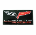 Corvett Racing Banner with C6 Logo (05-12 C6) - Kirban 2150