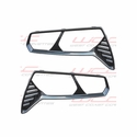 Corvette 2014 C7 Hydro Carbon Fiber Taillight Bezels � Smooth Finish � 2pc Kit