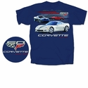 Corvette 60 Years of Awesome Performance Tee : Blue