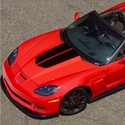 Corvette 60th Heritage Satin Black Stripe Hood Decal 2013