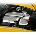 Corvette Air Capacitor Cover 2Pc - Plain or Perforated Stainless Steel : 2008-2013 C6 & GS