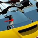 Corvette Air Tube Cover Polished Component - Polished Stainless Steel : 2006-2013 Z06 LS7 / GS LS3