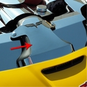 Corvette Air Tube Cover Polished Component - Polished Stainless Steel - American Car Craft 43040