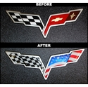 Corvette American Flag Emblem Overlay 2 Pc. Kit (05-13 C6/C6 Z06/ZR1/GS)