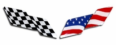 Corvette American Flag Emblem Overlay 2 Pc. Kit (97-04 C5 / C5 Z06)