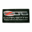 Corvette Banner with Z06 505 HP Enjoy Life in the Fast Lane (06-12 Z06) - Kirban 2151
