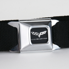 Corvette Belt with C6 Logo Seat Belt Buckle