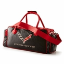 Corvette Black and Red Duffel Bag with C7 Crossed Flags Logo
