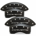 Corvette Brake Caliper Cover Set : 2006-2013 Z06 & Grand Sport - Stealth Black Series