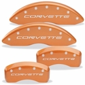 Corvette Brake Caliper Cover Set (4) - Body Color Matched with Silver Bolts and Script : 2005-2013 C6 only