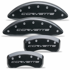 Corvette Brake Caliper Cover Set (4) - Carbon Fiber Look : 2005-2013 C6 only