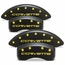 Corvette Brake Caliper Cover Set (4) - Stealth Black Series - Custom Color Letters : 2005-2013 C6 Z06 & Grand Sport