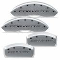 Corvette Brake Caliper Covers - Bengal Silver : 1997-2004 C5, Z06