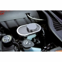 Corvette Brake Master Cylinder Cover - Perforated Stainless Steel : 2009-2013 C6,Z06,ZR1,Grand Sport
