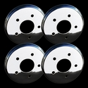 Corvette Brake Rotor Hub Covers - Chrome (Set) : 1997-2004 C5 & Z06