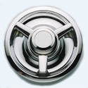 Corvette C3 Wheel Spinner Caps 3-Bar 1968-1982 - Set of 4