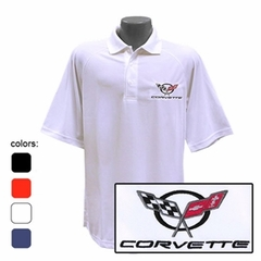 Corvette C5 Emblem - Men's Performance Polo Shirts : C5
