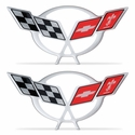 "Corvette C5 Logo Domed Decals 3.75"" x 1.82"" - Set of 2 : 1997-2004 C5"