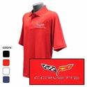 Corvette C6 Emblem - Men's Performance Polo Shirts : C6
