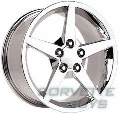Corvette C6 Style Wheel - Chrome (18x10.5)