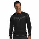 Corvette C6 Vintage Thermal Long Sleeve Shirt : Black